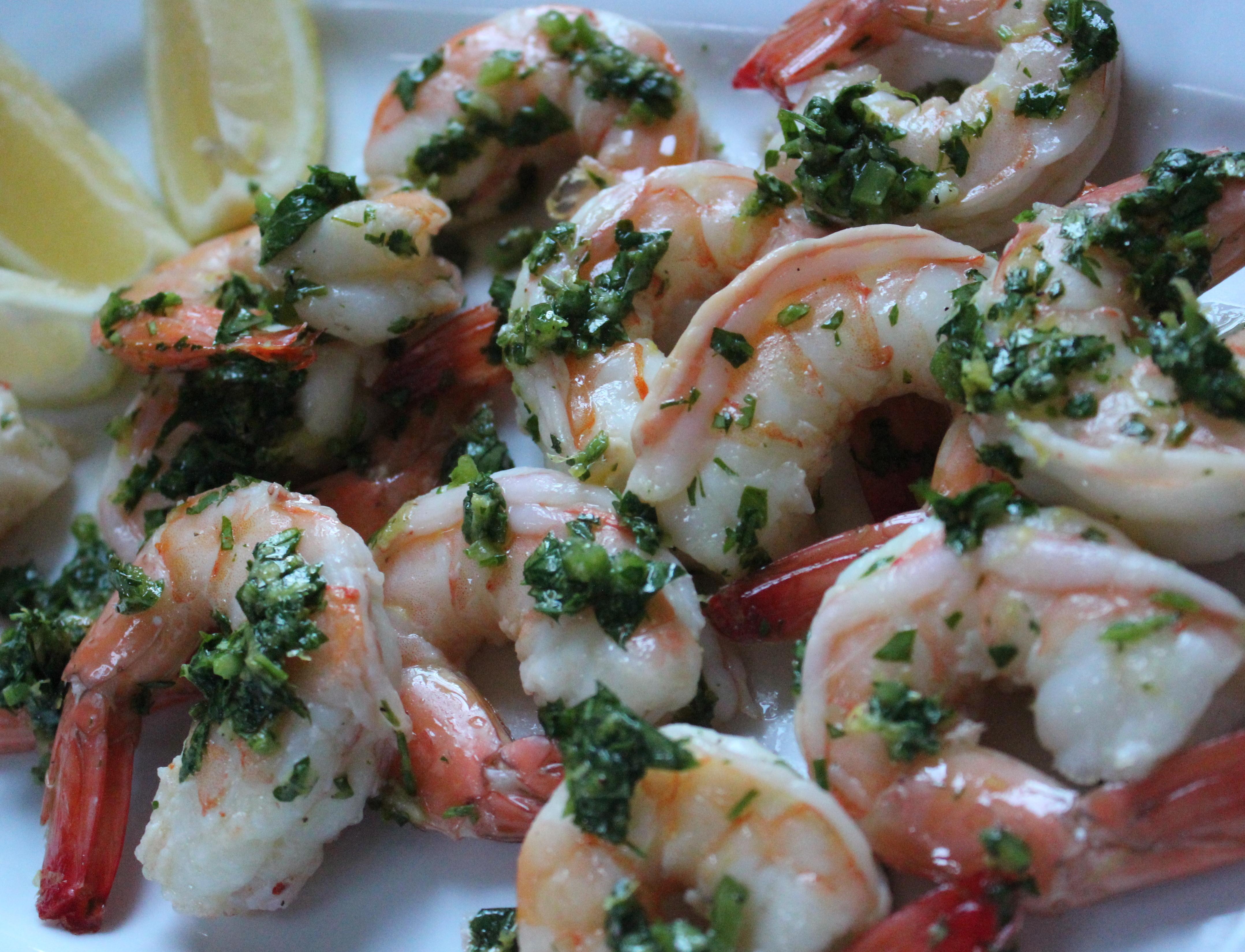 Chili Gremolata w/ Roasted Shrimp   Queen Jeanne's Cuisine