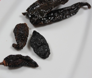 Dried Pasilla (top) Dried Chipotle (lower)